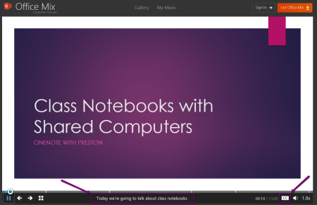 Class Notebooks with Shared Computers - with captions