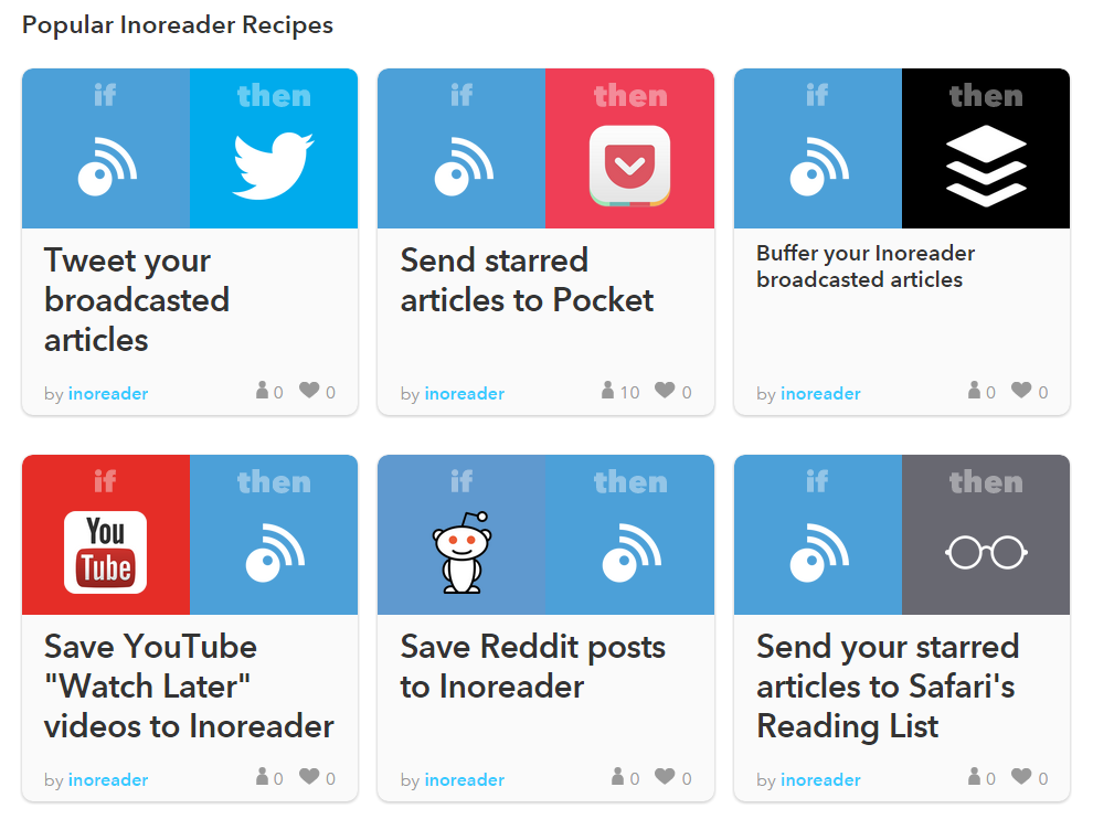 IFTTT Launches Inoreader Channel – CleverClogs