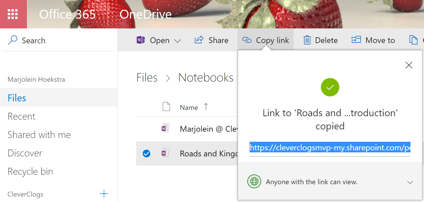 Embedding a full OneNote notebook from OneDrive for Business